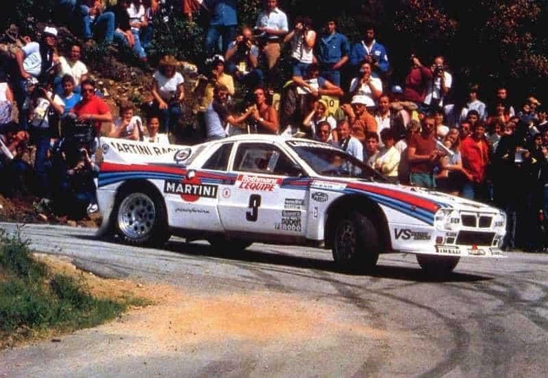 Markku Alén con la Lancia Rally 037