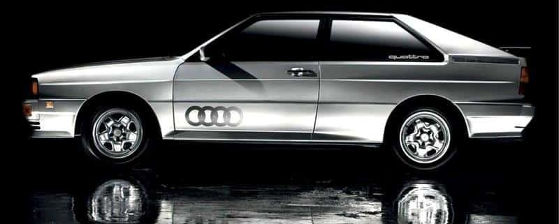 Audi quattro che adottò la prima trazione Ur-Quattro