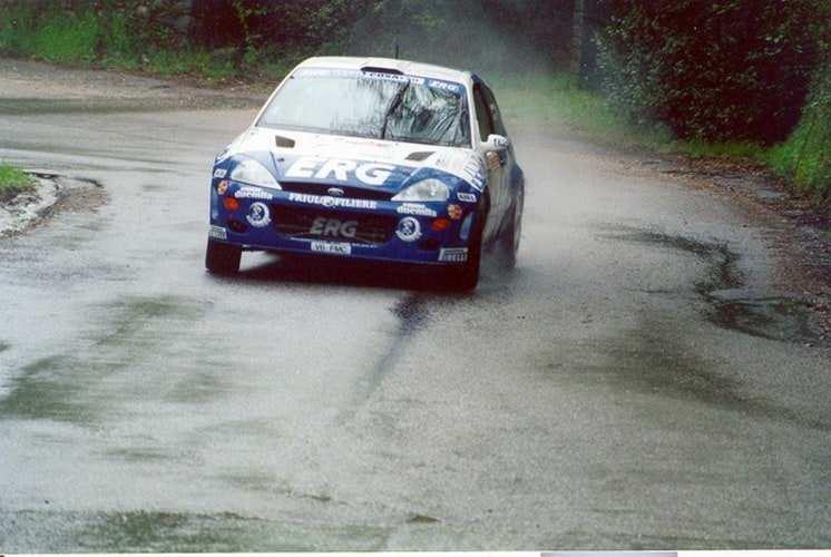 Paolo Andreucci con la Ford Focus WRC nel Campionato Italiano Rally