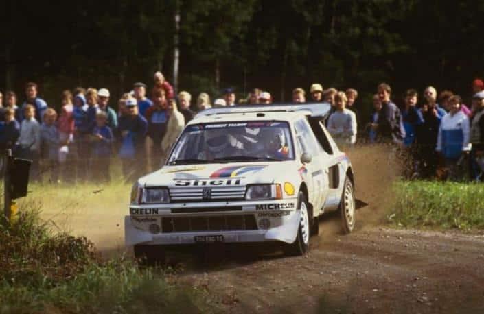 La Peugeot 205 Turbo 16 rappresentava l'avanguardia tecnologica del periodo