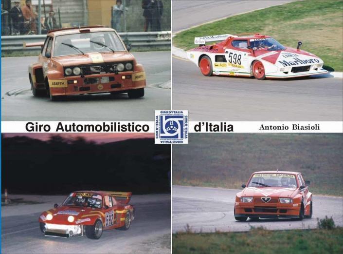 La copertina del libro di Antonio Biasioli dedicata al Giro Automobilistico d'Italia