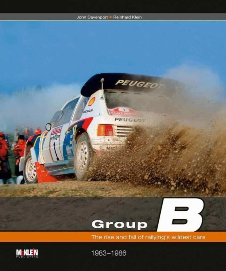 La copertina della seconda edizione del libro di McKlein dedicato alle vetture rally Gruppo B