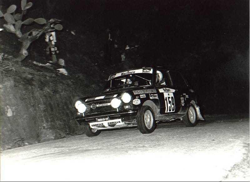 La A112 Abarth impegnata in una prova dell'omonimo trofeo monomarca