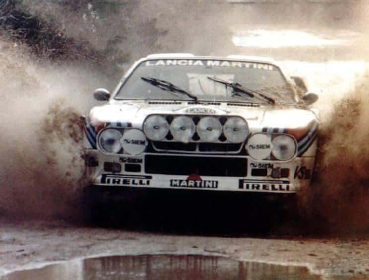 Attilio Bettega al volante della Lancia Rally 037