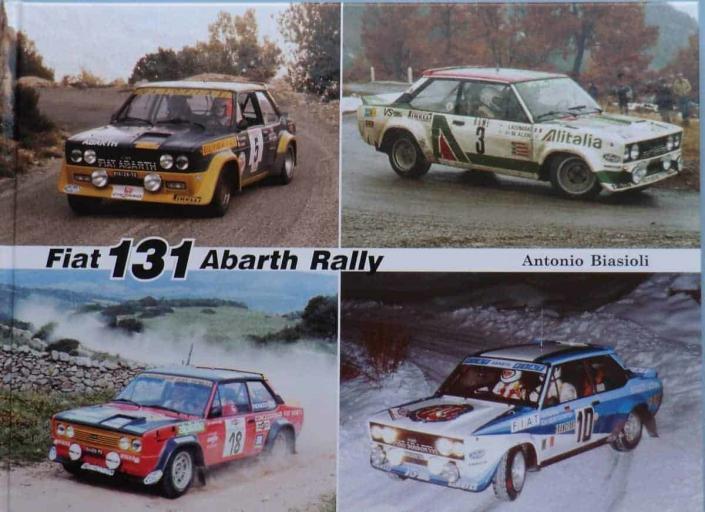 La copertina del volume sulla Fiat 131 Abarth Rally