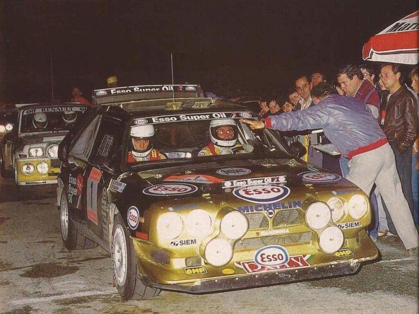 Fabrizio Tabaton con la Lancia Delta S4 Gruppo B