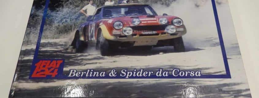 La copertina del libro di Biasioli dedicato alla Fiat 124 berlina e spider da corsa