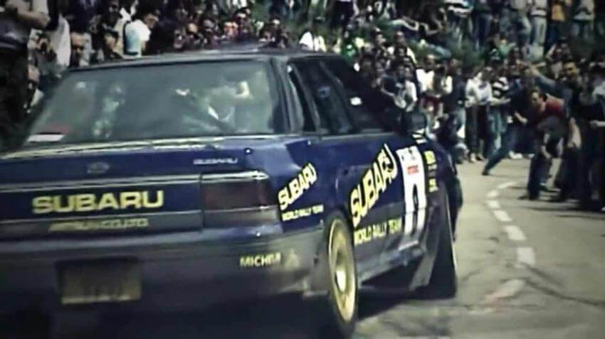 La Legacy RS Turbo 4WD al Tour de Corse 1993