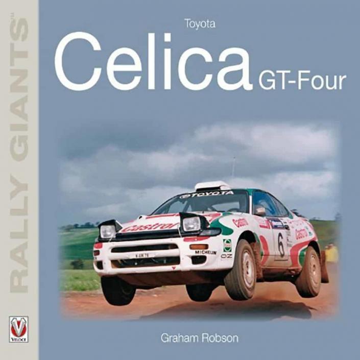 La copertina del libro dedicato alla Toyota Celica GT Four