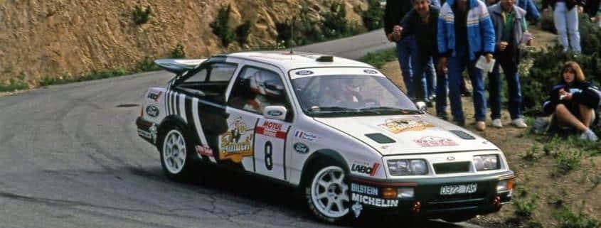 Didier Auriol con la Escort RS Cosworth WRC