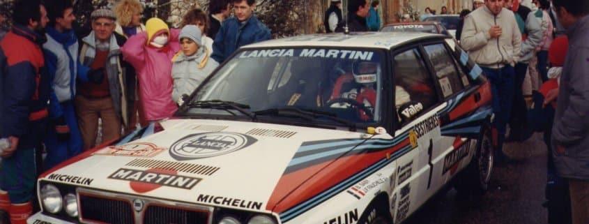 Bruno Saby al Monte con la Lancia Delta HF