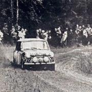 Timo Makinen al Rally 1000 Laghi 1965 con la Mini