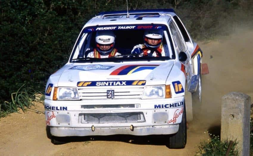 La Peugeot 205 T16 di Andrea Zanussi nel Cir 1986