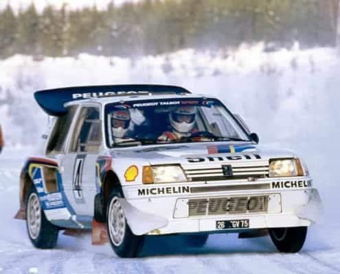 La Peugeot 205 T16 sul giaccio svedese