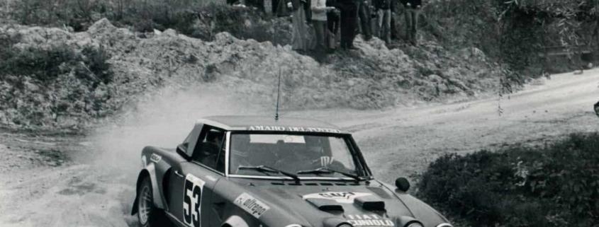 La Fiat 124 Abarth Rally in azione al Rally Oltrepo
