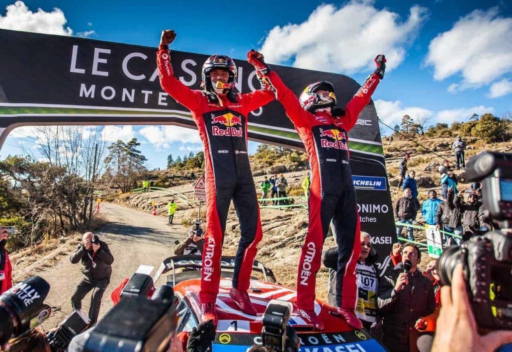Sebastien Ogier e Julien Ingrassia festeggiano il settimo successo al Rally MonteCarlo