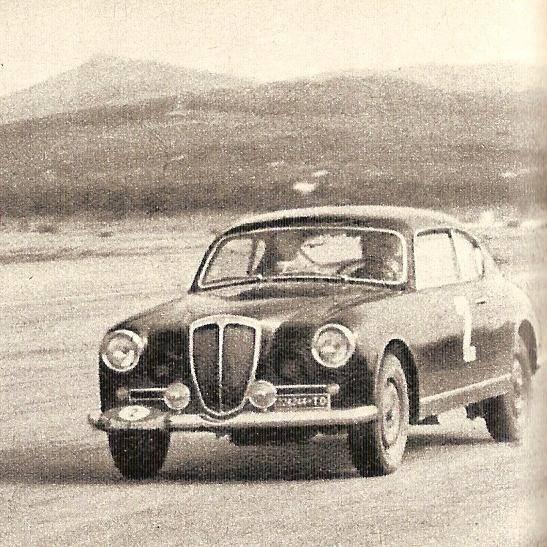 L'Aurelia B20 di Gigi Villoresi impegnata nell'Acropoli del 1958