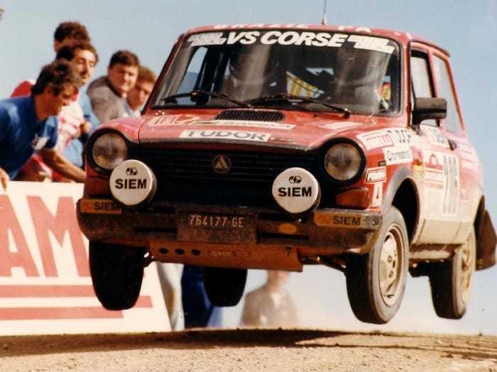L'Autobianchi A112 Abarth al Rallye Sanremo 1984