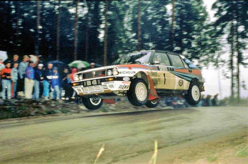 Markku Alen con la Lancia Delta HF