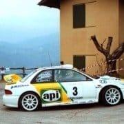 Andrea Aghini e Loris Roggia con la Subaru Impreza WRC al Rally del Ciocco 2001