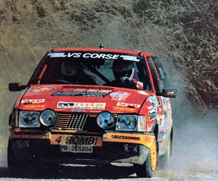 La Fiat Uno Turbo i.e. dell'omonimo trofeo di Fiat Auto Corse