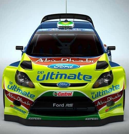 La prima versione della Ford Fiesta RS WRC 1.6 Turbo 4x4