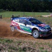 Mikko Hirvonen al Rally Australia 2011 con la Ford Fiesta RS WRC 1.6