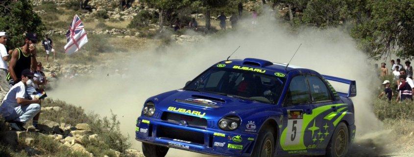 Richard Burns con la Subaru Impreza WRC nella stagione 2001 del WRC