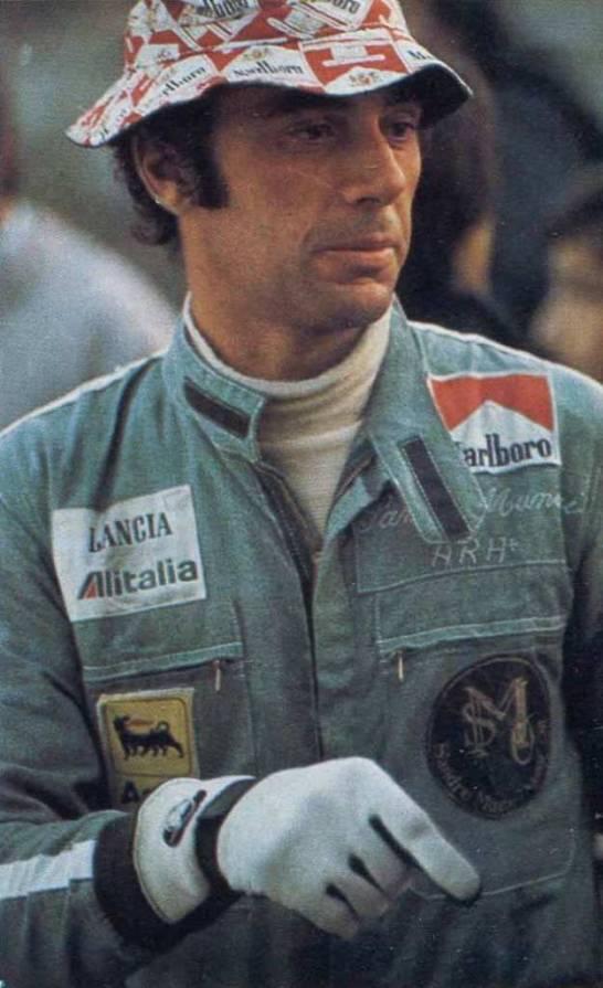 Sandro Munari, alias il Drago di Cavarzere,al Rallye Sanremo 1975