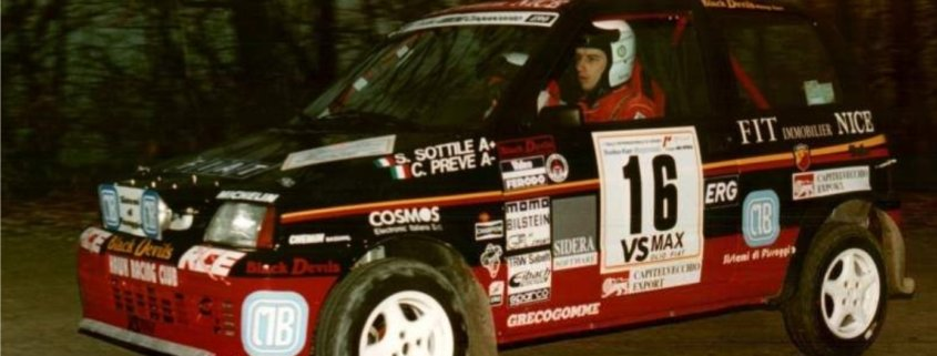 Sandro Sottile con la Fiat Cinquecento Trofeo di Fiat Auto Corse