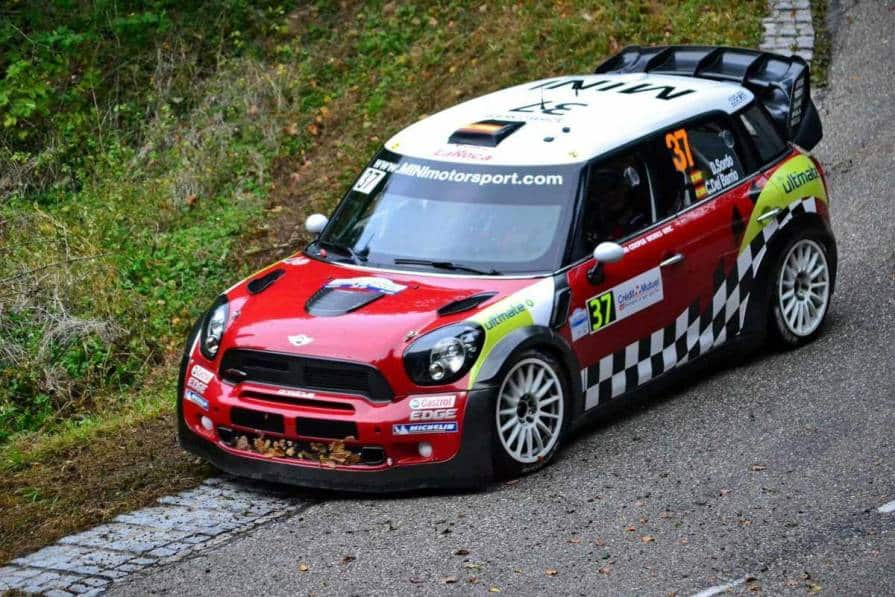 Dani Sordo con la Mini Cooper JCW WRC nel Rally di Francia 2012