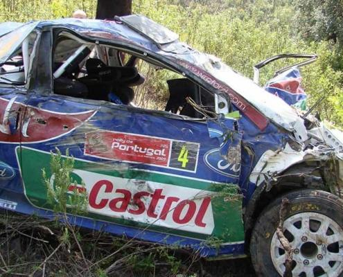 Il terribile incidente di Jari-Matti Latvala al Rally del Portogallo 2009
