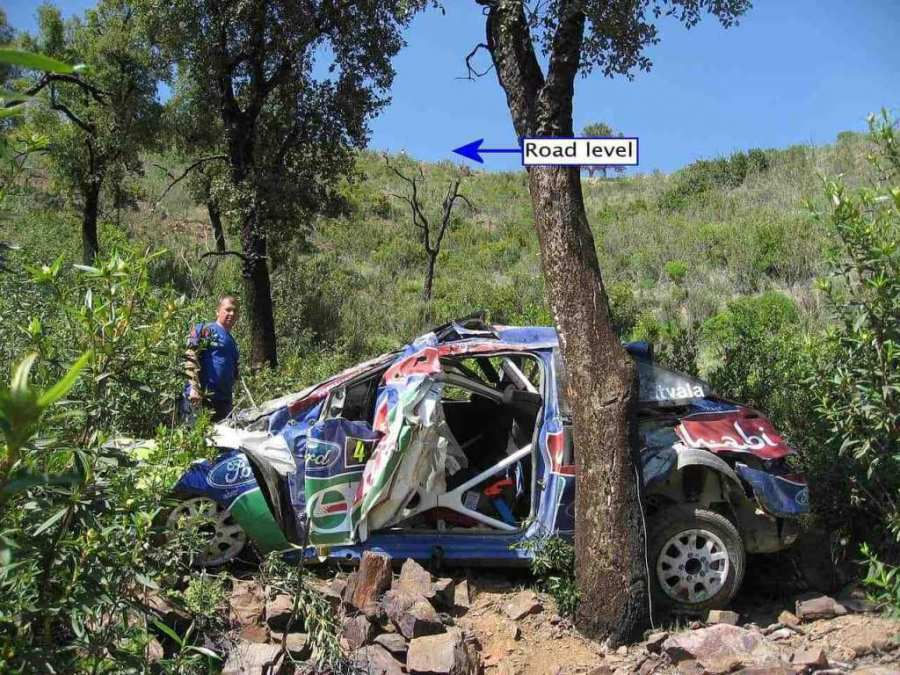 L'incidente di Jari Matti-Latvala al Rally del Portogallo