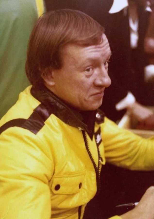 Uno scatto di rauno Aaltonen all'Essen Motorshow 1970