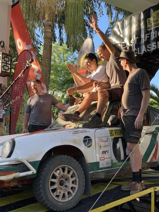 Eugenio Amos e Roberto Mometti al Safari Classic Rally