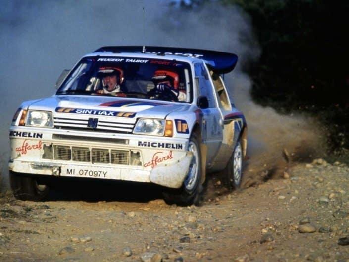 Andrea Zanussi impegnato con la Peugeot 205 T16