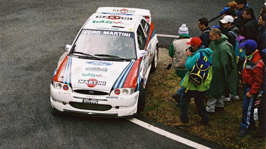Angelo Medeghini con la Ford Escort WRC