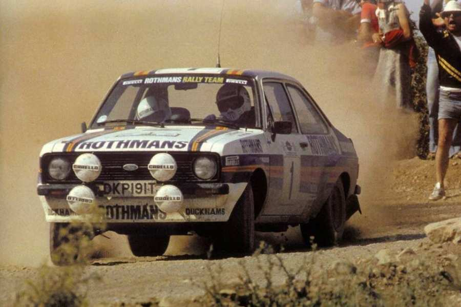 Ari Vatanen con la Ford Escort all'Acropolis Rally