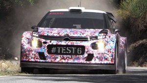La Citroen C3 WRC Plus durante il test 6