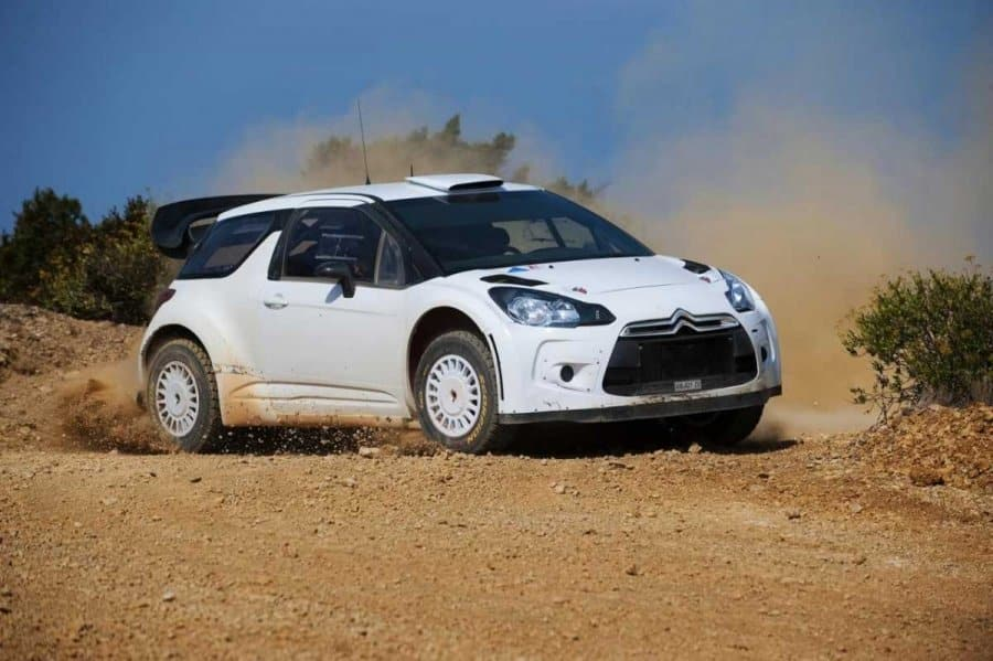 La Citroen DS3 WRC durante i test di sviluppo