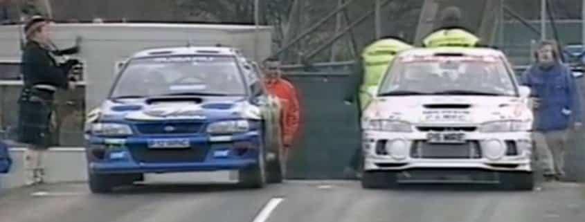 Colin McRae sfida Tommi Makinen sulla PS Silverstone