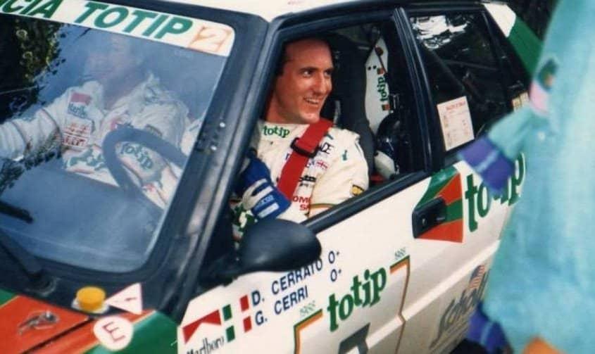 Dario Cerrato e Geppi Cerri con la Lancia Delta