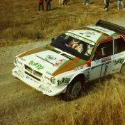 Dario Cerrato con la Delta S4 nel CIR 1986
