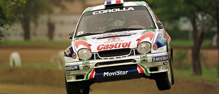 Didier Auriol e la Toyota Corolla WRC al Rally di Cina 1999