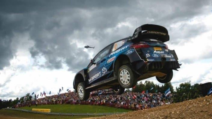 Elfyn Evans al Rally Estonia con la Ford Fiesta WRC Plus