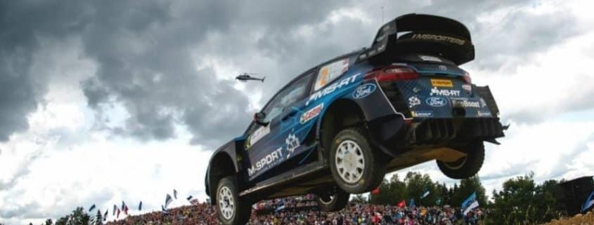 Elfyn Evans al Rally Estonia con la Ford Fiesta WRC Plus