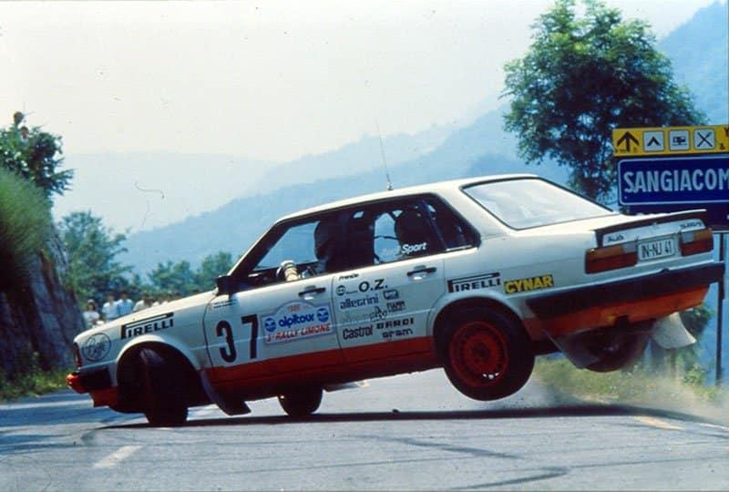 Emilio Radaelli con l'Audi