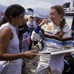 Fabrizia Pons con Michele Mouton al Tour de Corse 1986, ultima apparizione iridata per la coppia femminile più brava di sempre