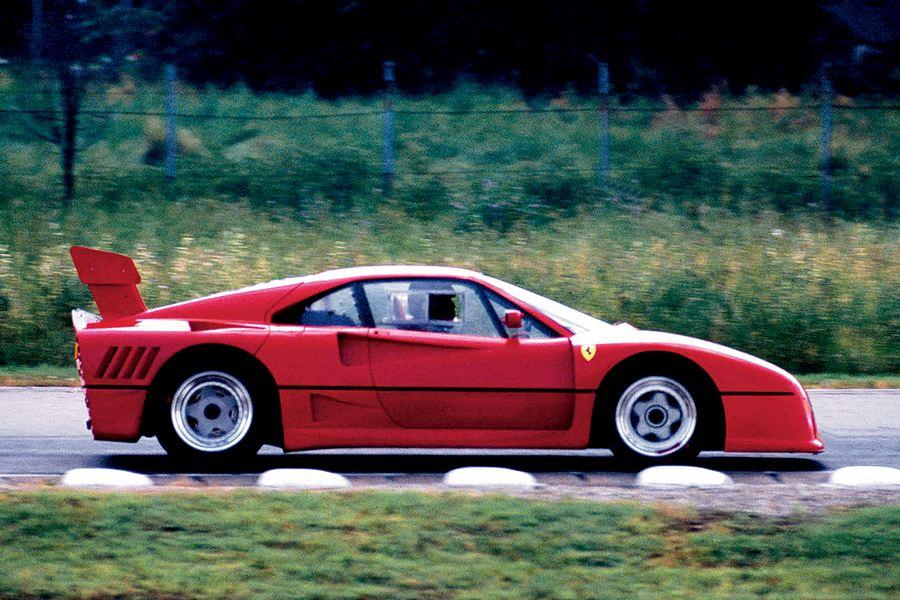 I test di sviluppo della Ferrari 288 GTO