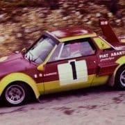 La Fiat X1/9 Abarth guidata da Bernard Darniche nella foto di Alejandro Pérez
